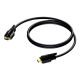 Audio/videokaabel HDMI-A(M) - HDMI-A(M) 02,0m, topeltlukustusega, must