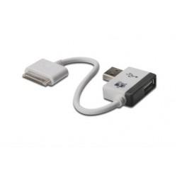 Apple kaabel 30-pin dock (M) - USB-A (M) 00,19m, universaalne