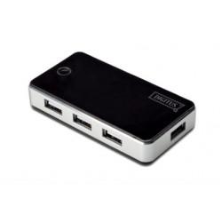 7-porti hub, USB 2.0, must
