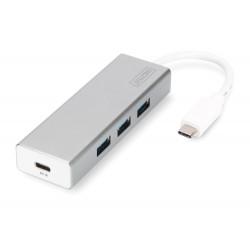 7-port USB 3.0 hub, tüüp-C, valge