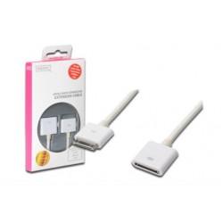 Apple kaabel 30-pin dock (M) - 30-pin dock (F) 01,0m, valge