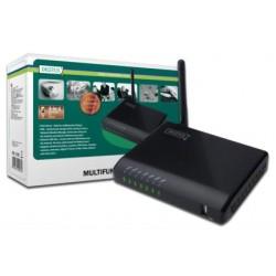 USB võrguserver, 4-porti, NAS, printserver USB 2.0, WiFi