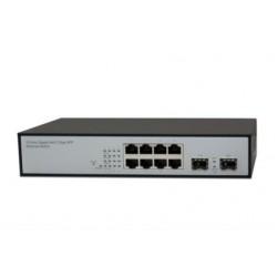 Switch 8-porti 10/100/1000Mbps +2 SFP port, räkitav